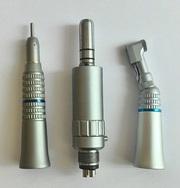 Комплект пневматического микромотора с прямым и угловым наконечником N11 с внешней подачей воды