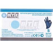 Перчатки латексные гладкие опудренные «BTE Medical», 50 пар